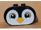 Part No: 4198pb36  Name: Duplo, Brick 2 x 4 x 2 Rounded Ends with Penguin Face Pattern