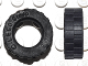 Part No: 42611  Name: Tire 17.5mm D. x 6mm with Shallow Staggered Treads