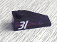 Part No: 4286pb001  Name: Slope 33 3 x 1 with White Number 31 on Red Stripes Pattern Model Right (Sticker) - Set 6639