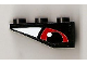 Part No: 4287pb001R  Name: Slope, Inverted 33 3 x 1 with Red Eye Right Pattern (Sticker) - Set 8277