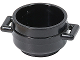 Part No: 4341  Name: Minifigure, Utensil Pot Cauldron 3 x 3 x 1 & 3/4 with Handles