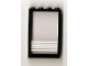 Part No: 4347pb07  Name: Window 1 x 4 x 5 with Fixed Glass and 5 White Stripes Pattern (Sticker)