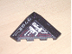 Part No: 43708pb01R  Name: Wedge 4 x 4 (Slope 18 Corner) with Silver and Dark Red Circuitry and '7702' Pattern (Stickers) - Set 7702