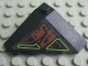 Part No: 43708pb02L  Name: Wedge 4 x 4 (Slope 18 Corner) with Dark Red and Lime Circuitry Pattern (Sticker) - Set 7707
