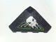 Part No: 43708pb03R  Name: Wedge 4 x 4 (Slope 18 Corner) with Silver and Lime Circuitry and Skull Pattern (Sticker) - Set 7713