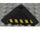 Part No: 43708pb04R  Name: Wedge 4 x 4 (Slope 18 Corner) with Black and Yellow Danger Stripes Pattern Right (Sticker) - Set 7713