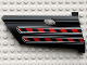 Part No: 44351pb011  Name: Technic, Panel Fairing #21 Large Long, Small Hole, Side B with Red / Black Diagonal Stripes Pattern (Sticker) - Set 8285