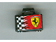 Part No: 4449pb01  Name: Minifigure, Utensil Briefcase with Checkered Ferrari Logo Pattern on Both Sides (Stickers)