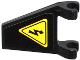 Part No: 44676pb014  Name: Flag 2 x 2 Trapezoid with Electricity Danger Sign Pattern (Sticker) - Set 70808