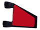 Part No: 44676pb015L  Name: Flag 2 x 2 Trapezoid with Red Pattern, Model Left (Sticker) - Set 8362