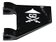 Part No: 44676pb029  Name: Flag 2 x 2 Trapezoid with White Ninja Skull with Crossed Swords Pattern on Both Sides (Stickers)