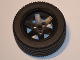 Part No: 44772c04  Name: Wheel 56mm D. x 34mm Technic Racing Medium, 3 Pin Holes with Black Tire 81.6 x 36 R Technic Straight Tread (44772 / x1825)