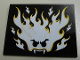 Part No: 4515pb043  Name: Slope 10 6 x 8 with Glow In Dark Flaming Face Pattern (Sticker) - Set 9464