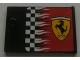 Part No: 4533pb009R  Name: Container, Cupboard 2 x 3 x 2 Door with Checkered Flag and Ferrari Logo Pattern Right (Sticker)
