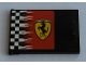 Part No: 4533pb017L  Name: Container, Cupboard 2 x 3 x 2 Door with Checkered Flag and Ferrari Logo Pattern Left (Sticker) - Sets 8144 / 8185