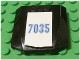 Part No: 45677pb008  Name: Wedge 4 x 4 x 2/3 Triple Curved with Number 7035 Pattern (Sticker) - Set 7035
