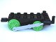 Part No: 4580c05  Name: Duplo, Train Steam Engine Chassis with Light Bluish Gray Drive Rod and 4 Bright Green Wheels