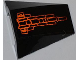 Part No: 47753pb034  Name: Wedge 4 x 4 No Top Studs with Orange Lines Pattern (Sticker) - Set 7985