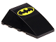 Part No: 47753pb047  Name: Wedge 4 x 4 No Top Studs with Large Batman Logo Pattern (Printed)