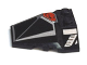 Part No: 47757pb01  Name: Wedge 4 x 4 Pyramid Center with Red / Silver Pattern