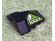Part No: 47757pb05  Name: Wedge 4 x 4 Pyramid Center with Lime and Silver Machinery Pattern on Right Side (Sticker) - Set 8104
