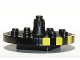 Part No: 48648c03  Name: Duplo Merry-Go-Round Type 1 with Yellow Caution Stripes Pattern