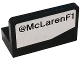 Part No: 4865pb070L  Name: Panel 1 x 2 x 1 with '@McLarenF1' Pattern Model Left Side (Sticker) - Set 75911