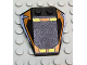 Part No: 48933pb004  Name: Wedge 4 x 4 Triple with Stud Notches with Orange Window Frame, Yellow Stripes, Light Blue 4 Pattern