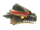 Part No: 50108pb02  Name: Dragon Head (Fantasy Era) Upper Jaw with Dark Red Scales and Yellow Eyes Pattern