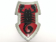 Part No: 50657pb01  Name: Large Figure Shield, 2 x 4 Brick Relief, Vladek Scorpion with Dark Red and Silver Pattern