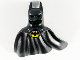 Part No: 51008pb01  Name: Minifigure, Headgear Head Cover, Cowl with Pointed Ears, Sweeping Cape with Bat Batman Logo Pattern
