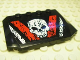 Part No: 52031pb010  Name: Wedge 4 x 6 x 2/3 Triple Curved with Skull Pattern (Sticker) - Set 8140