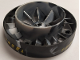Part No: 53983pb04  Name: Engine, Very Large Turbine, with Pearl Light Gray Marbled Center with Yellow and Black Danger Stripes Pattern (4 Stickers) - Set 7704