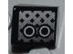 Part No: 54200pb026R  Name: Slope 30 1 x 1 x 2/3 with Grille and 2 Black and White Circles Pattern Model Right Side (Sticker) - Set 8186
