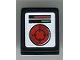Part No: 54200pb058  Name: Slope 30 1 x 1 x 2/3 with Red Round Screen and Red and Green Lights Pattern (Sticker) - Set 8899