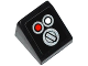 Part No: 54200pb065  Name: Slope 30 1 x 1 x 2/3 with Red and White Buttons and Switch Pattern (Sticker) - Set 42032