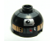 Part No: 553pb003  Name: Brick, Round 2 x 2 Dome Top with Silver and Copper Pattern (R2-Q5 Droid)