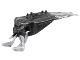 Part No: 57550pb01  Name: Bionicle Head, Barraki Mantax, Marbled Pearl Light Gray Pattern