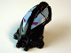 Part No: 57578pb01  Name: Minifigure, Head Modified Bionicle Toa Mahri Hahli / Nuparu (Nuparu Black Pattern)