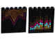 Part No: 59349pb103  Name: Panel 1 x 6 x 5 with Music Graph on Inside and Triangles and Magenta Dots on Outside Pattern (Stickers) - Set 41117