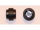 Part No: 6014bc07  Name: Wheel 11mm D. x 12mm, Hole Notched for Wheels Holder Pin with Black Tire 14mm D. x 6mm Solid Smooth (6014b / 50945)