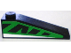 Part No: 60477pb001R  Name: Slope 18 4 x 1 with Green and Black Pattern, Model Right (Sticker) - Set 8898
