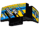 Part No: 61071pb007  Name: Technic, Panel Car Mudguard Left with Sponsor Logos on Blue, Yellow and Black Background Pattern (Stickers) - Set 42034