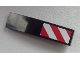 Part No: 61678pb059R  Name: Slope, Curved 4 x 1 No Studs with Large Red and White Danger Stripes Pattern (Large Red Corners) Model Right Side (Sticker) - Set 60026
