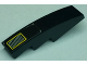Part No: 61678pb094  Name: Slope, Curved 4 x 1 with Vent Intake Grille with Yellow Outline Pattern (Sticker) - Set 8161