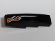 Part No: 61678pb102L  Name: Slope, Curved 4 x 1 No Studs with Orange Flame Pattern Lower Left Side (Sticker) - Set 8164