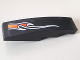 Part No: 61678pb102R  Name: Slope, Curved 4 x 1 No Studs with Orange Flame Pattern Lower Right Side (Sticker) - Set 8164