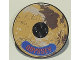 Part No: 6177pb008  Name: Tile, Round 8 x 8 with Mars and 'ODYSSEY' Pattern (Sticker) - Set 7469