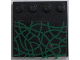 Part No: 6179pb003  Name: Tile, Modified 4 x 4 with Studs on Edge with Green Vines Pattern (Sticker) - Set 4766
