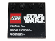 Part No: 6179pb064  Name: Tile, Modified 4 x 4 with Studs on Edge with Lego Star Wars Logo and 'Tantive IV Rebel Trooper Alderaan' Pattern - Set 75011